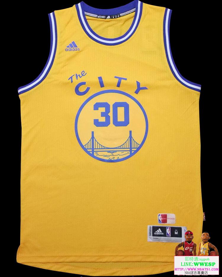 NBA球衣 正品球衣 2015 16 新赛季复古NBA球衣 新面料 勇士队 30号